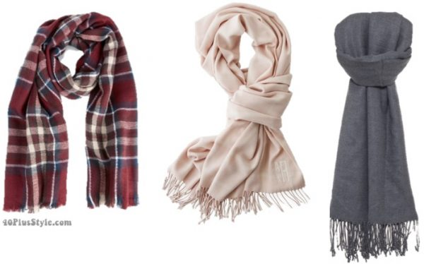 oversized scarf: basic winter capsule wardrobe   40plusstyle.com