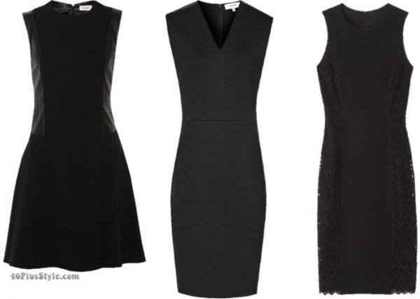 winter capsule wardrobe: black dress basics   40plusstyle.com