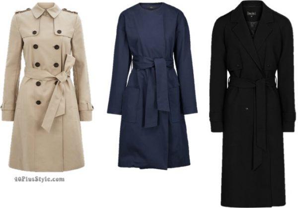 trench coat : basics winter capsule wardrobe   40plusstyle.com