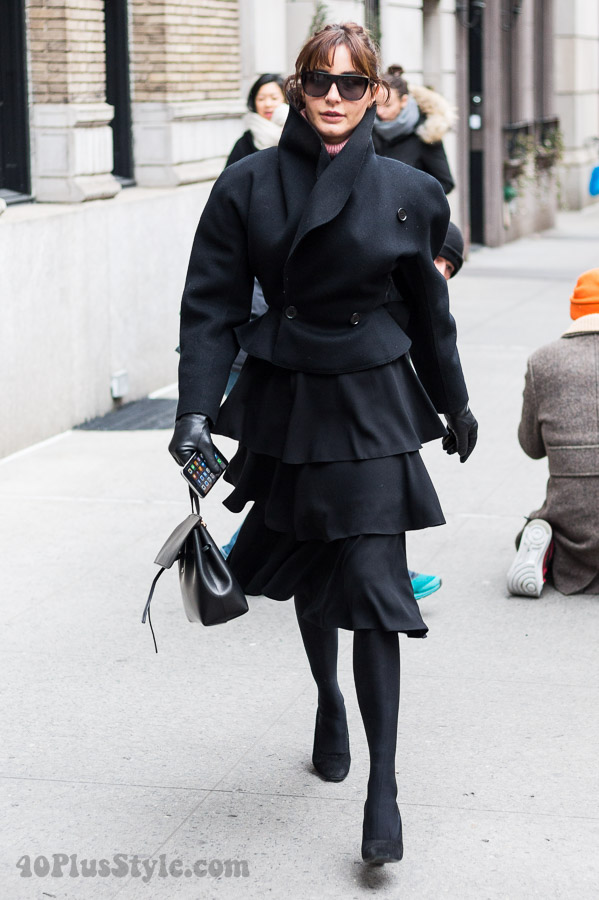 Streetstyle: black winter outfits - Which of these 4 outfits is your favorite? | 40plusstyle.com