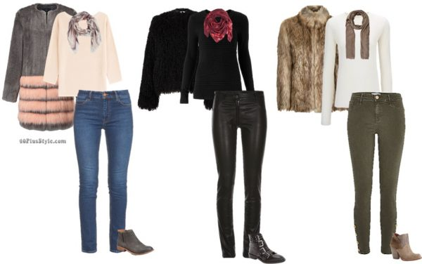 Fur coats and booties for winter fashion   40plusstyle.com