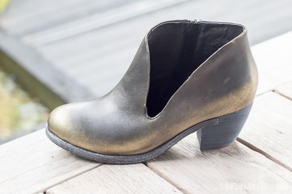Asymmetrical booties by Antelope shoes | 40plusstyle.com