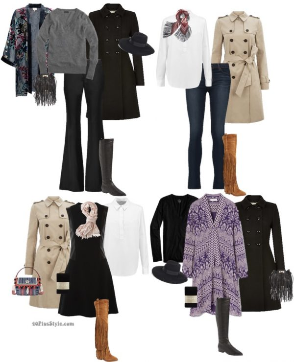 bohemian winter outfits | 40plusstyle.com