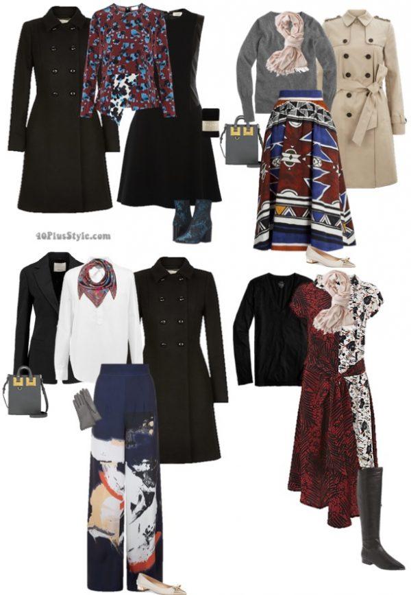 eclectic artsy unique winter outfits | 40plusstyle.com