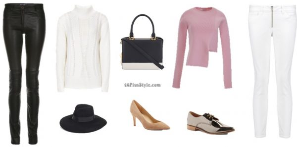 minimalist outfits: white and black winter wardrobe | 40plusstyle.com