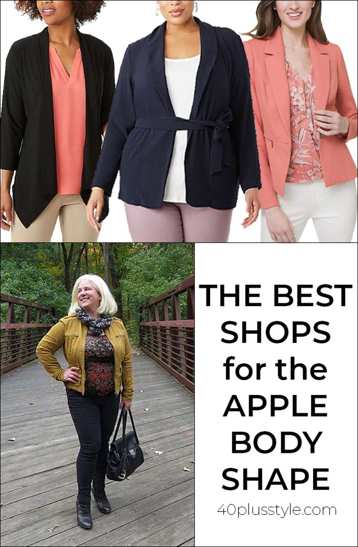 The best shops for women with the apple body shape | 40plusstyle.com