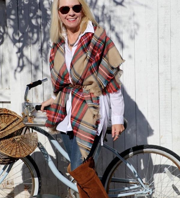 Plaid outfits   40plusstyle.com