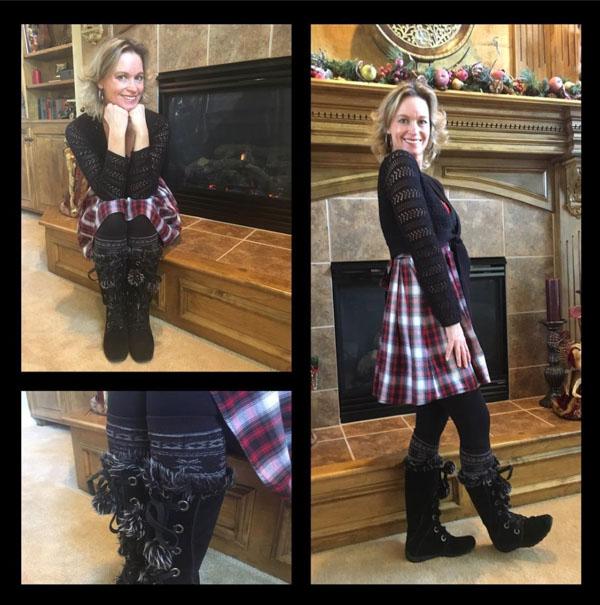 plaid skirt| 40plusstyle.com