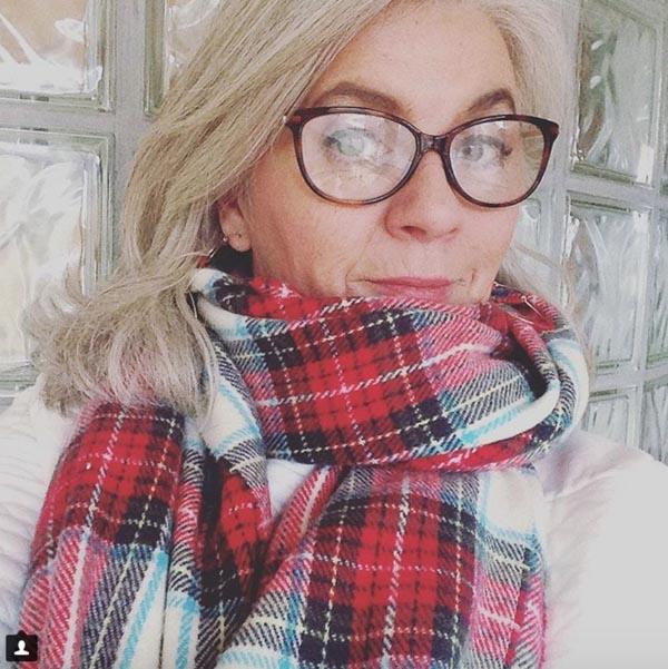 Stylish plaid scarf   40plusstyle.com
