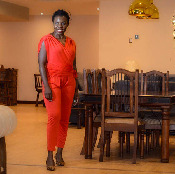 Red jumpsuit | 40plusstyle.com
