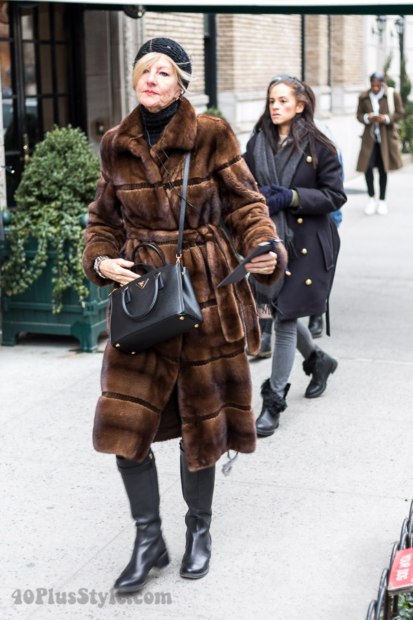 Elegant brown coat | 40plusstyle.com