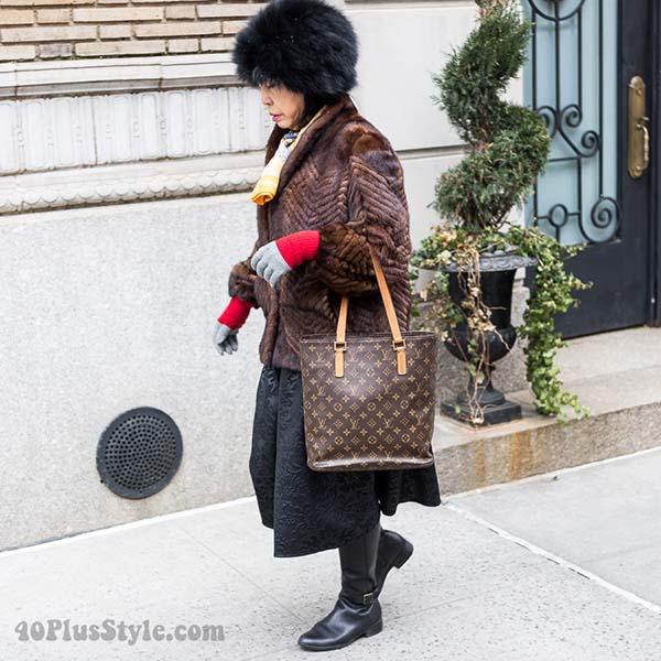 Chevron style coat | 40plusstyle.com