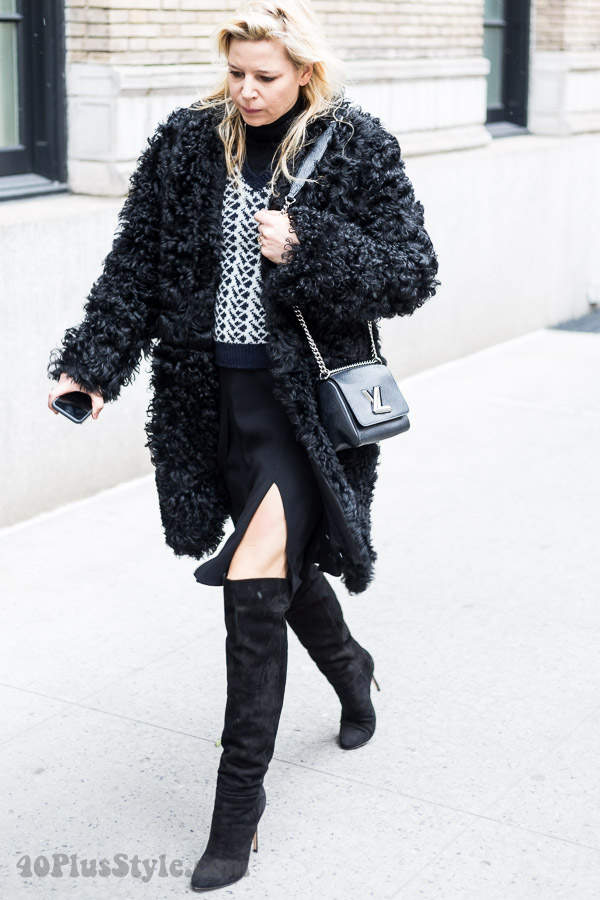 Streetstyle inspiration: Textured coats | 40plusstyle.com
