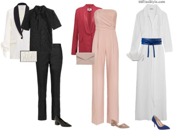 minimalist holiday party outfits | 40plusstyle.com