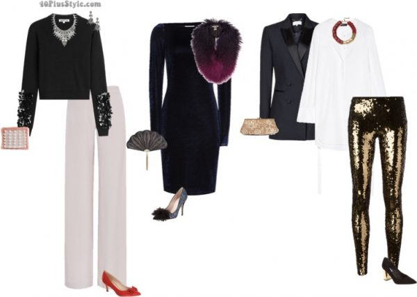 trendy Christmas party looks | 40plusstyle.com