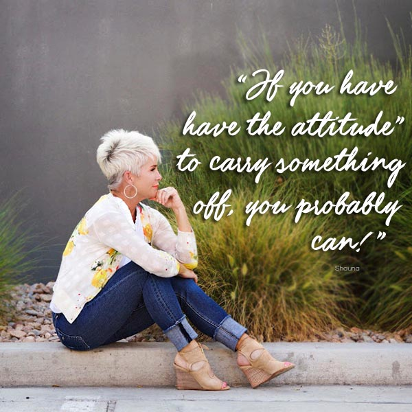 Chic over 50 style quote | 40plusstyle.com
