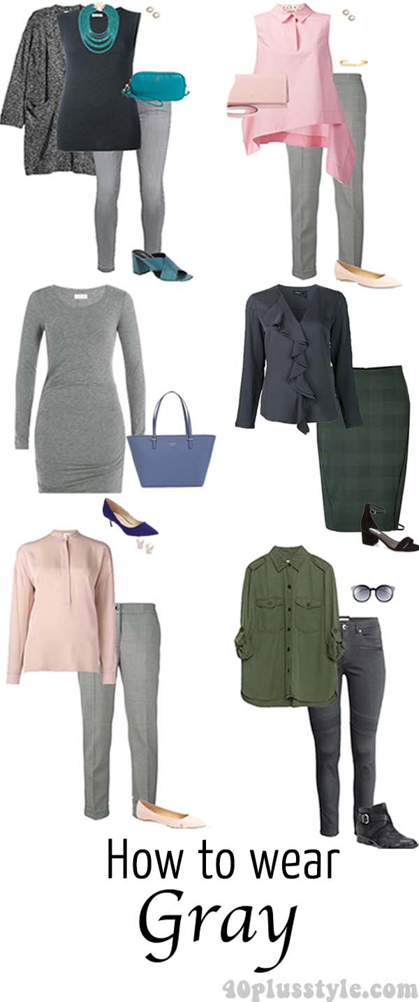 How to wear gray – choose color combinations and ensembles