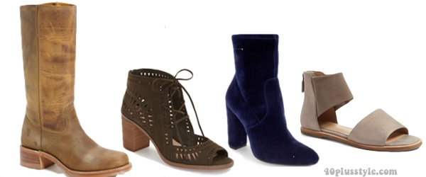 Boho chic shoes for a bohemian capsule wardrobe | 40plusstyle.com