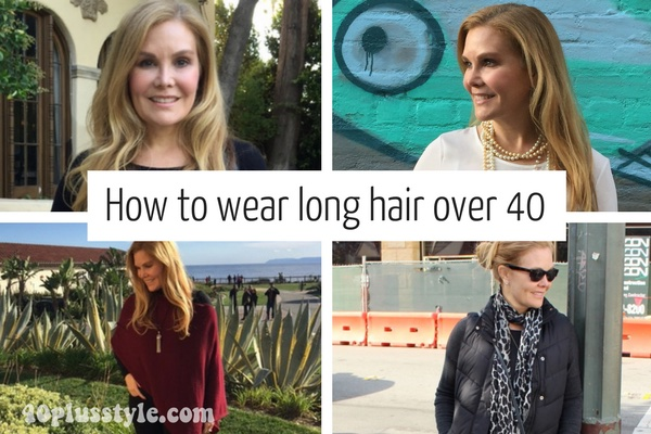 tips on wearing long hair after 40 | 40plusstyle.com