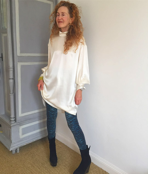 Silk tunic with leggings | 40plusstyle.com