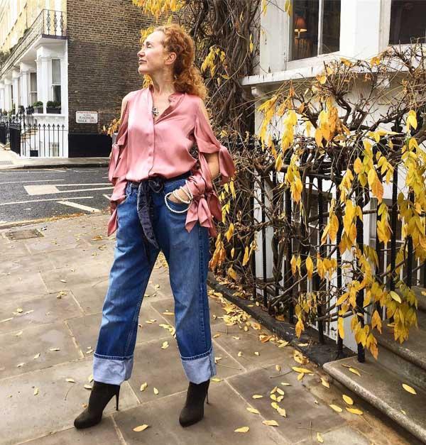 Draped silk blouse | 40plusstyle.com