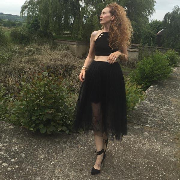 Black tulle skirt | 40plusstyle.com