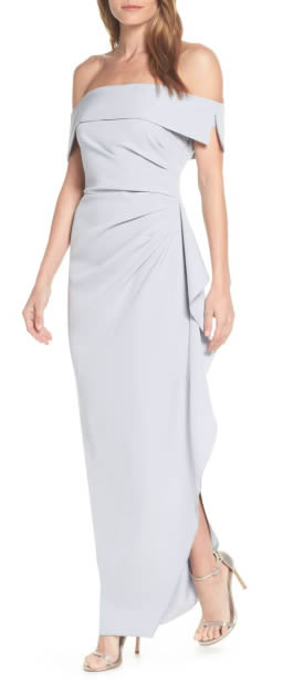 Mother of the bride dress - crepe gown   40plusstyle.com