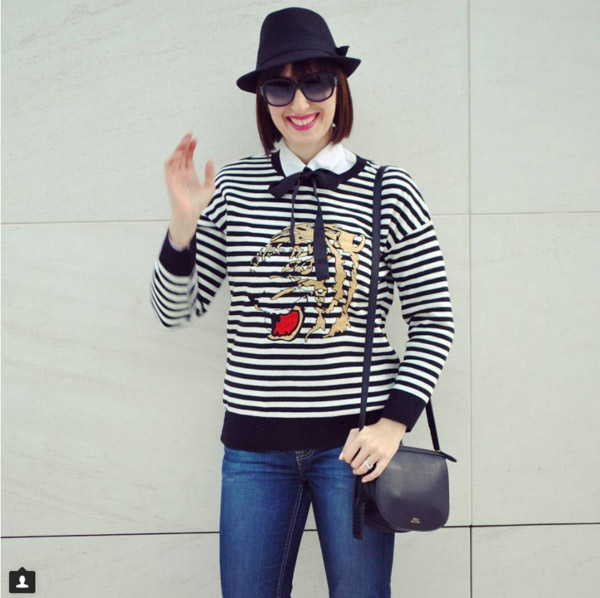 #40plusstyle inspiration: Striped sweater | 40plusstyle.com