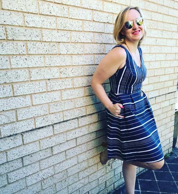Striped dress | 40plusstyle.com