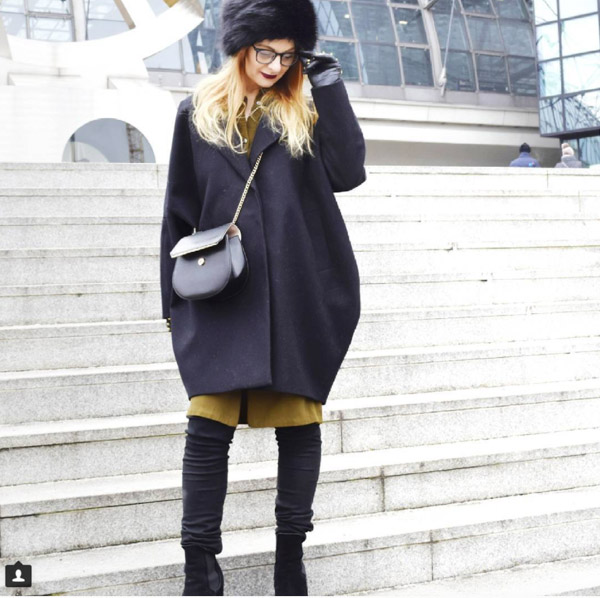 Layering colors: black and olive green | 40plusstyle.com
