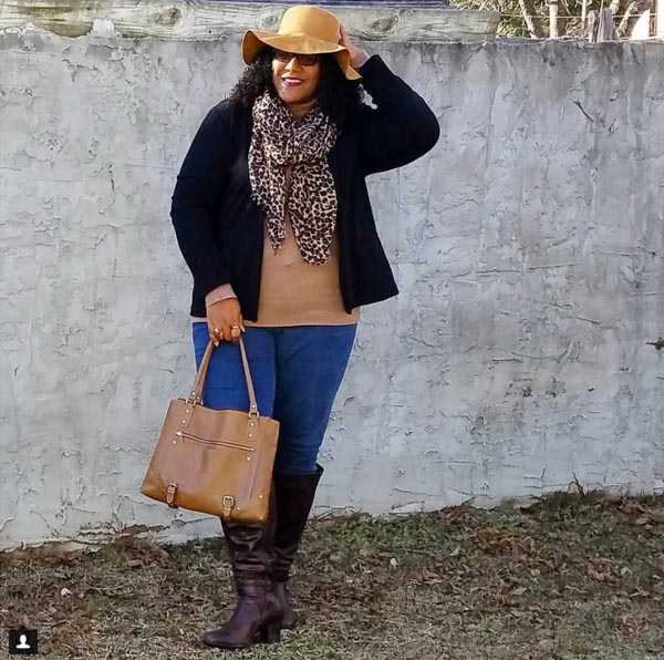 Layering ideas: scarf with a cardigan | 40plusstyle.com