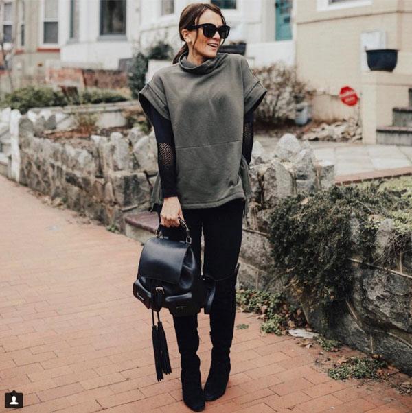 Sweater layering ideas | 40plusstyle.com