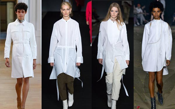 Spring 2017 trends for women over 40: White poplin shirt | 40plusstyle.com