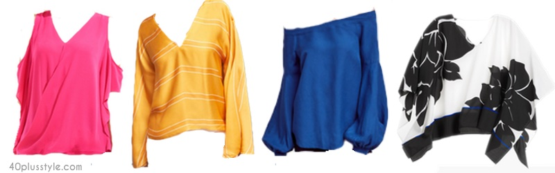 How to refresh your wardrobe with spring's colorful new tops | 40plusstyle.com
