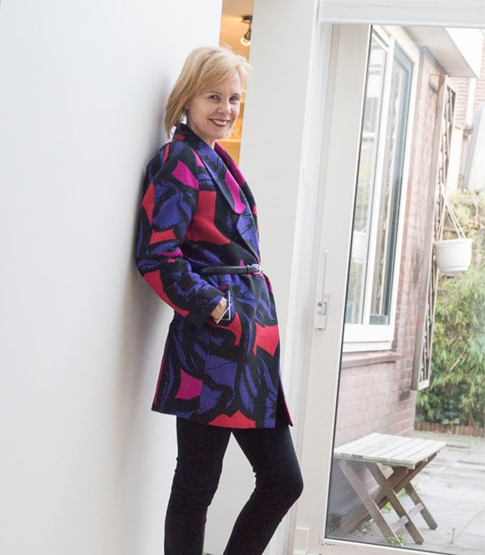 Having fun with color in winter | 40plusstyle.com
