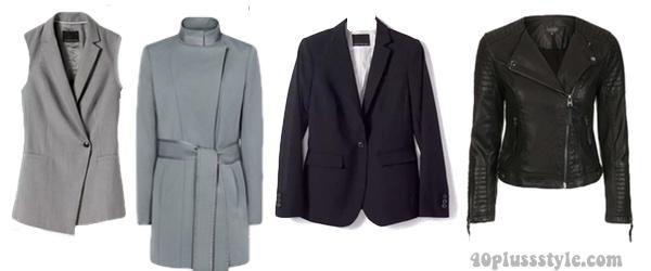 Jackets to create a minimalist style capsule wardrobe | 40plusstyle.com