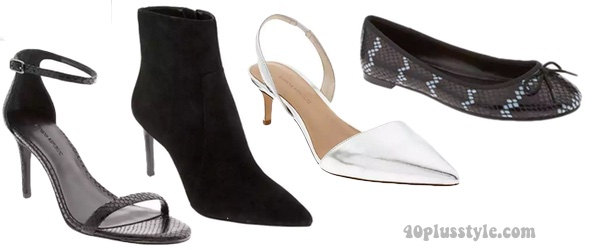 Shoes and boots for a minimalist style capsule wardrobe | 40plusstyle.com