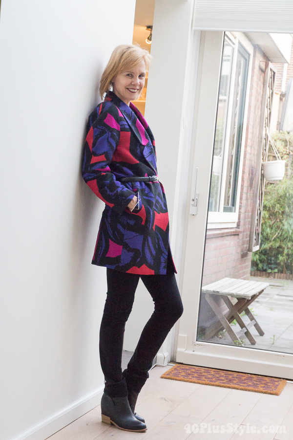 How to wear color in winter   40plusstyle.com