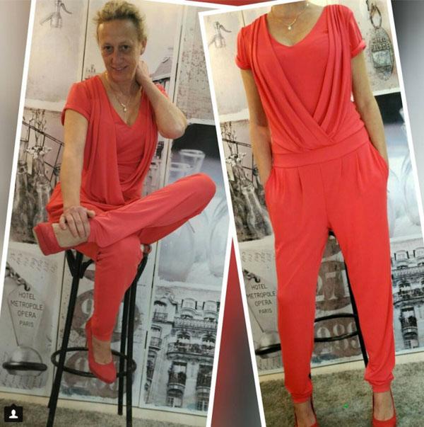 Draped jumpsuit | 40plusstyle.com