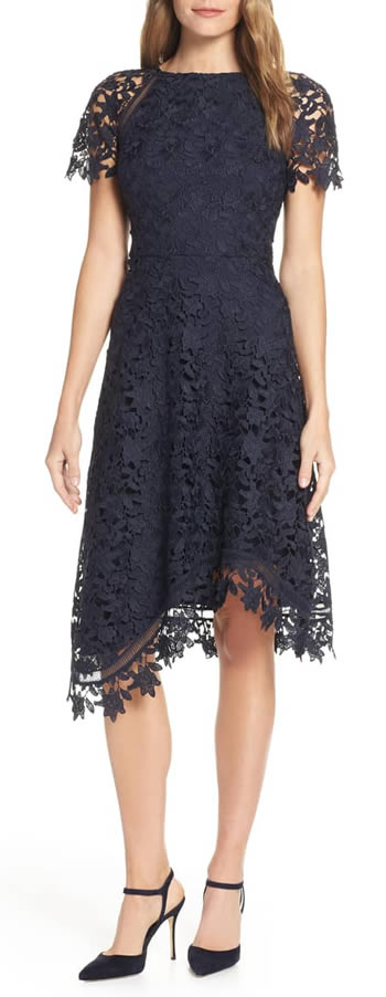 Asymmetrical dress - black lace | 40plusstyle.com