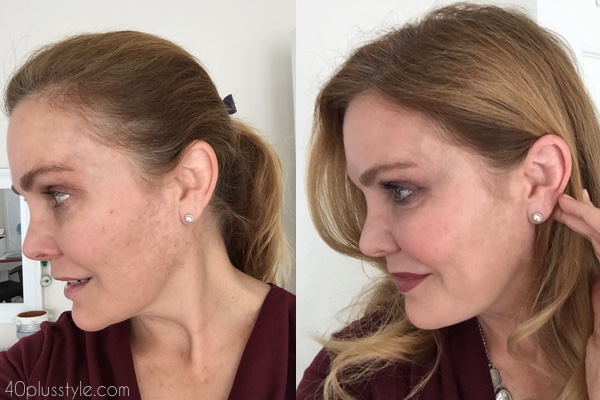 It cosmetics makeup before and after | 40plusstyle.com