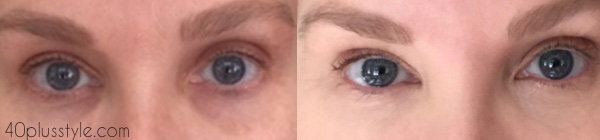 It Cosmetics before and after   40plussstyle.com