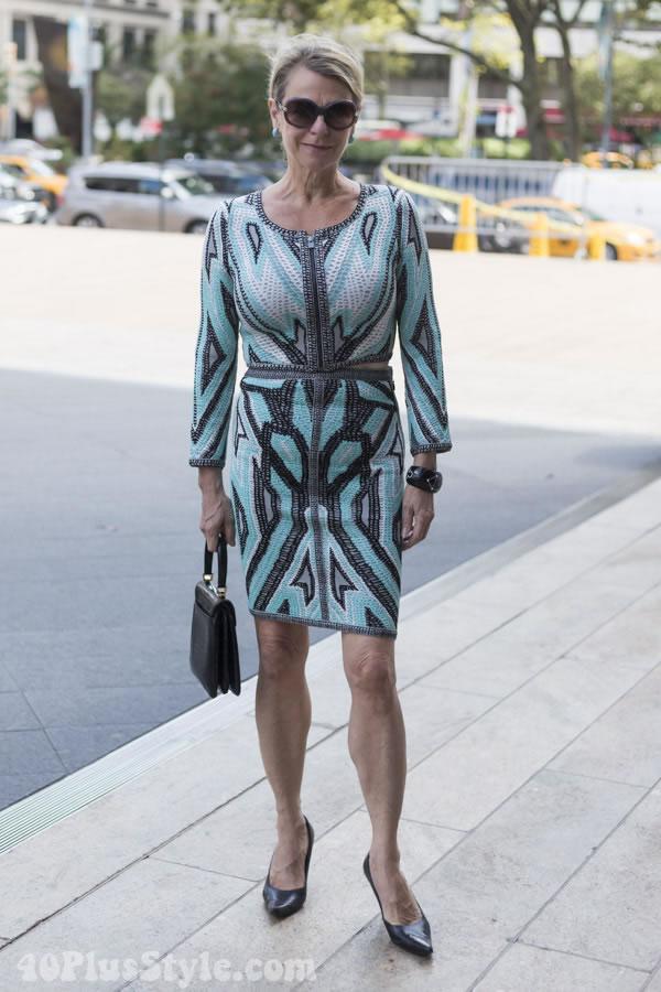 aztec sequin dress | 40plusstyle.com