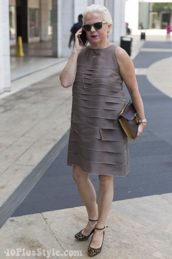 pleated dress | 40plusstyle.com