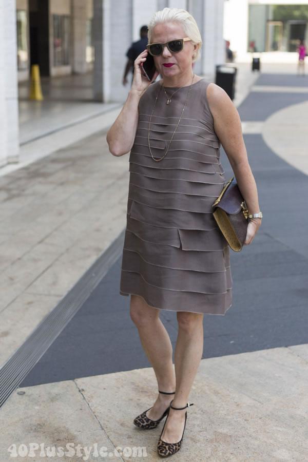 pleated dress | 40plusstyle.com