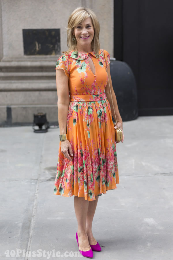 vintage dress | 40plusstyle.com