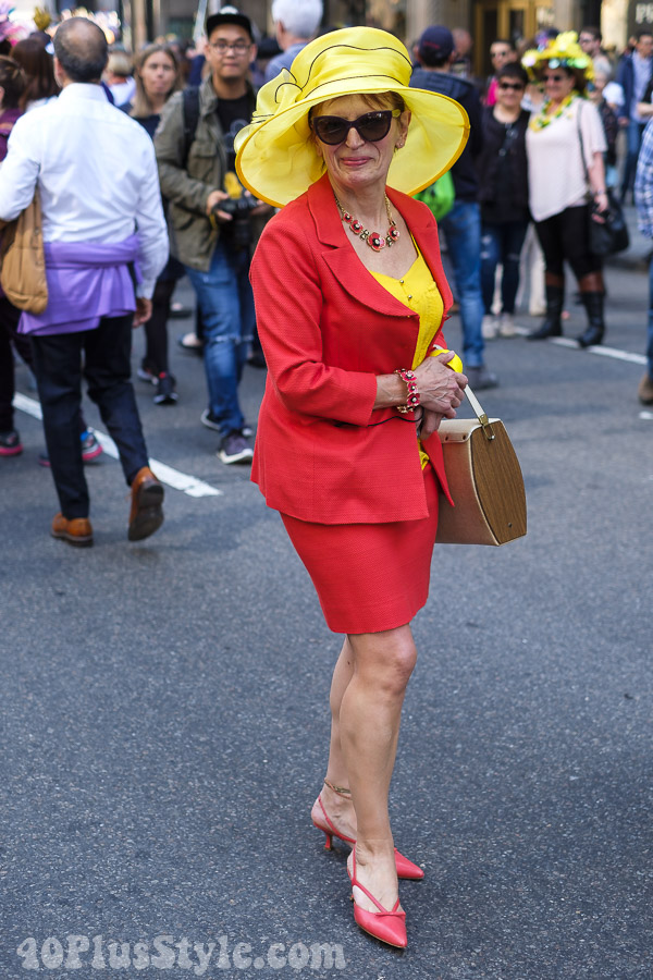 Red and yellow pieces | 40plusstyle.com