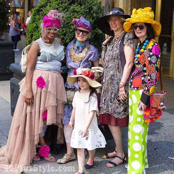 Bright prints and florals at the New York Easter Parade | 40plusstyle.com
