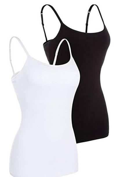 best camisoles with shelf bra | 40plusstyle.com