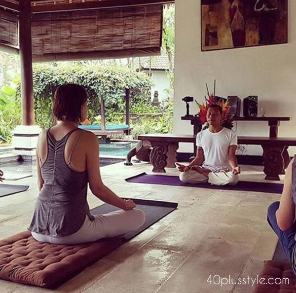 Yoga in Ubud, Bali | 40plusstyle.com